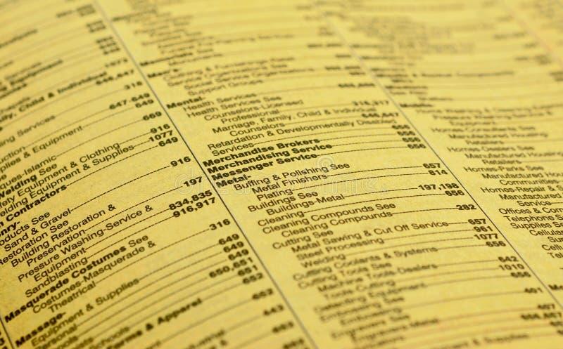 页黄色 免版税库存图片