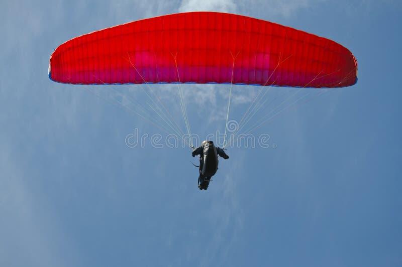 顶上滑翔机的吊 图库摄影