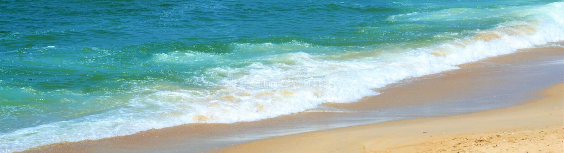 顶上的关闭在湿海滩沙子的一系列的海泡沫泡影,在海洋潮汐区 库存照片
