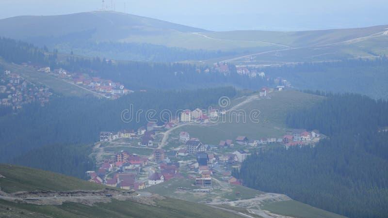 顶上的Runcu村庄,罗马尼亚 免版税库存图片