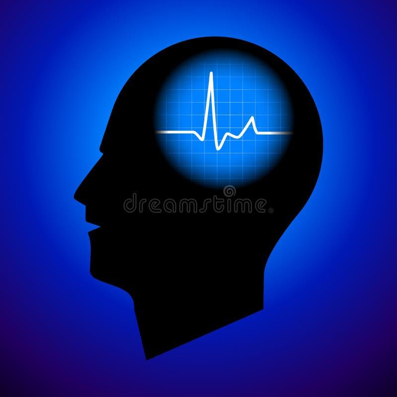 顶头人力脉冲 向量例证