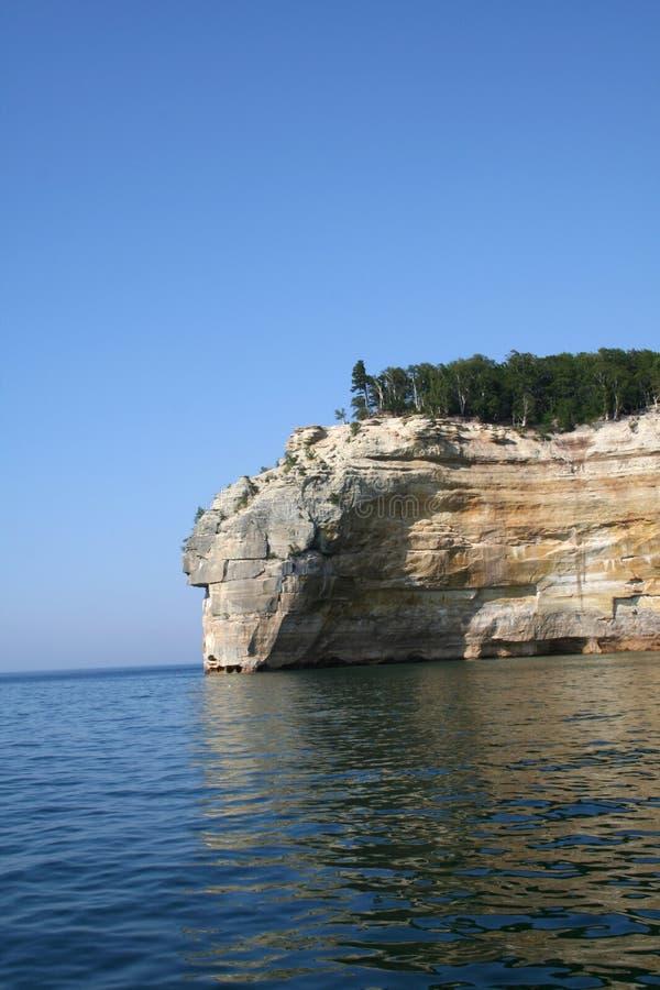 顶头印第安被生动描述的岩石 免版税库存图片