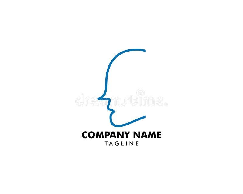 顶头商标摘要设计传染媒介模板 库存例证