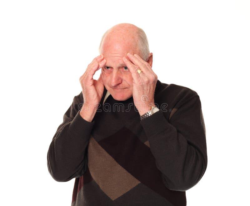 顶头头疼藏品人更旧的高级重点 免版税库存照片