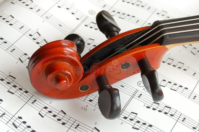 顶头小提琴 免版税库存照片