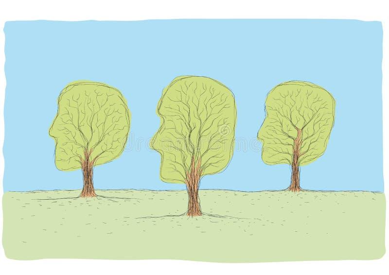 顶头形状的结构树 皇族释放例证