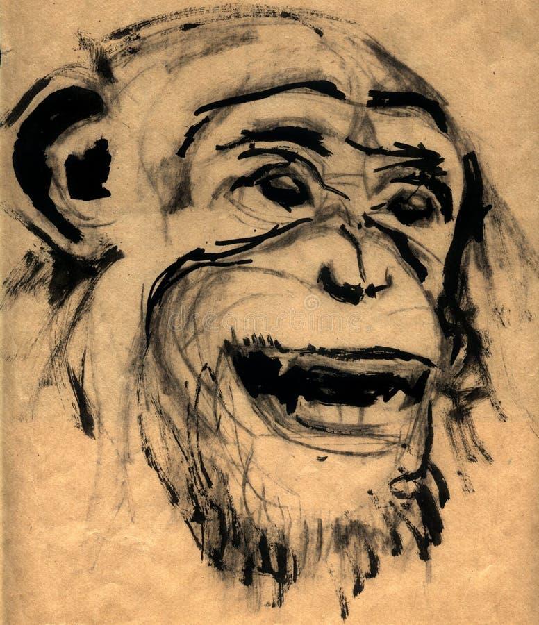 顶头猴子 皇族释放例证