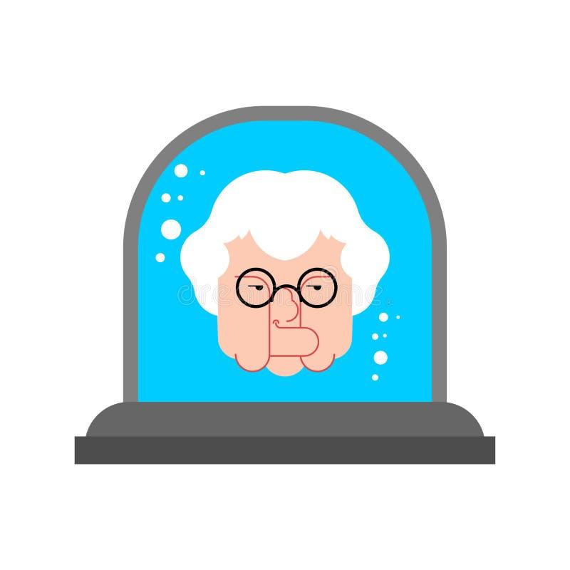 顶头祖母在玻璃响铃中 也corel凹道例证向量 向量例证