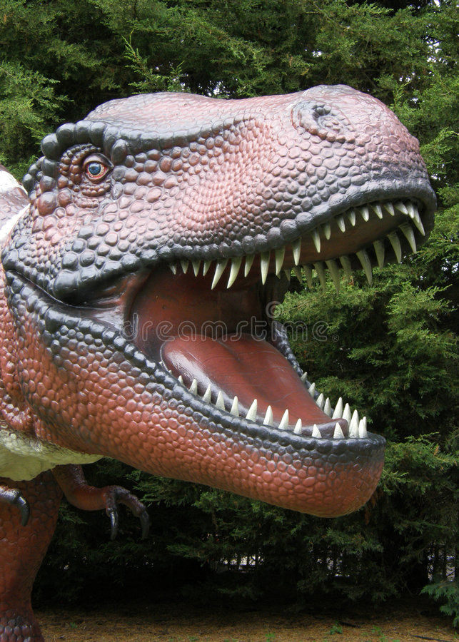 顶头rex暴龙 库存照片