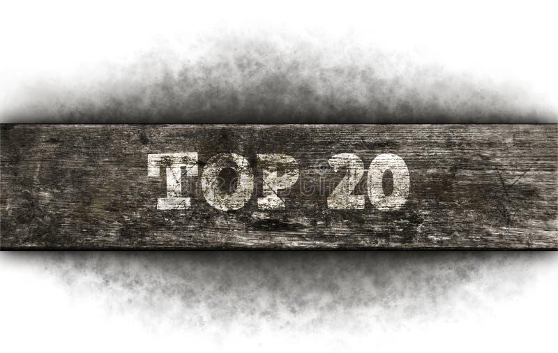 20顶层 免版税库存照片