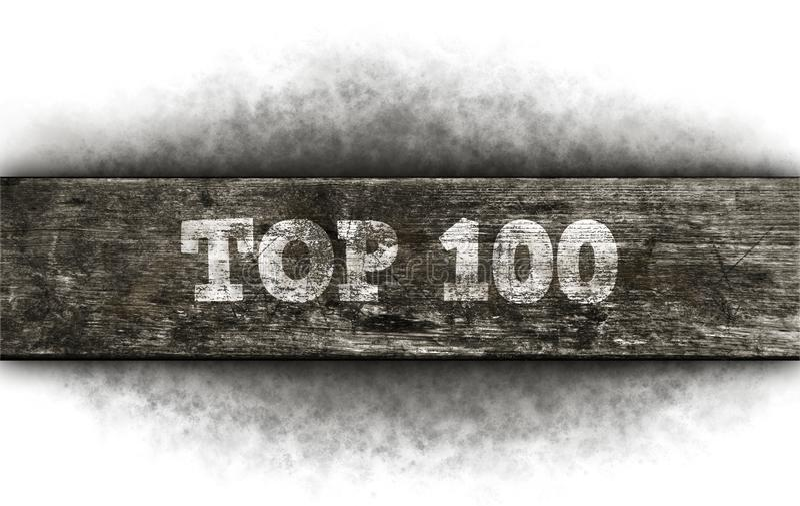100顶层 免版税库存图片
