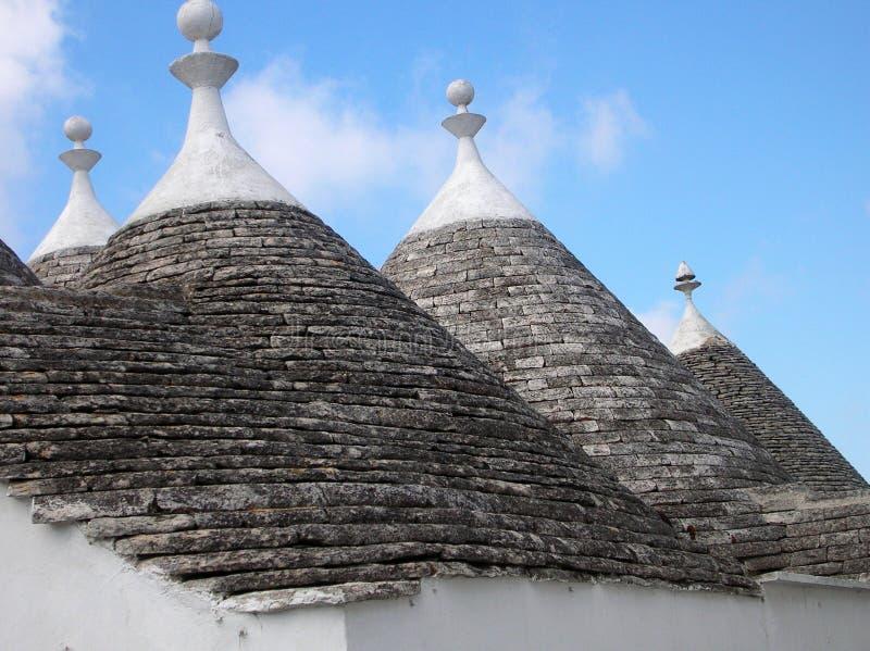 顶房顶trulli 库存照片