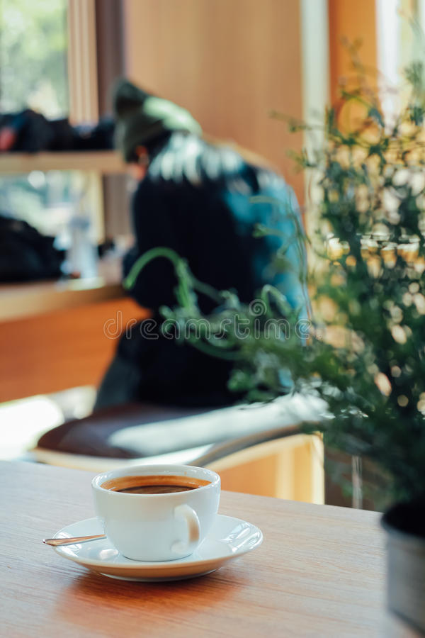 顶楼咖啡店 免版税库存照片