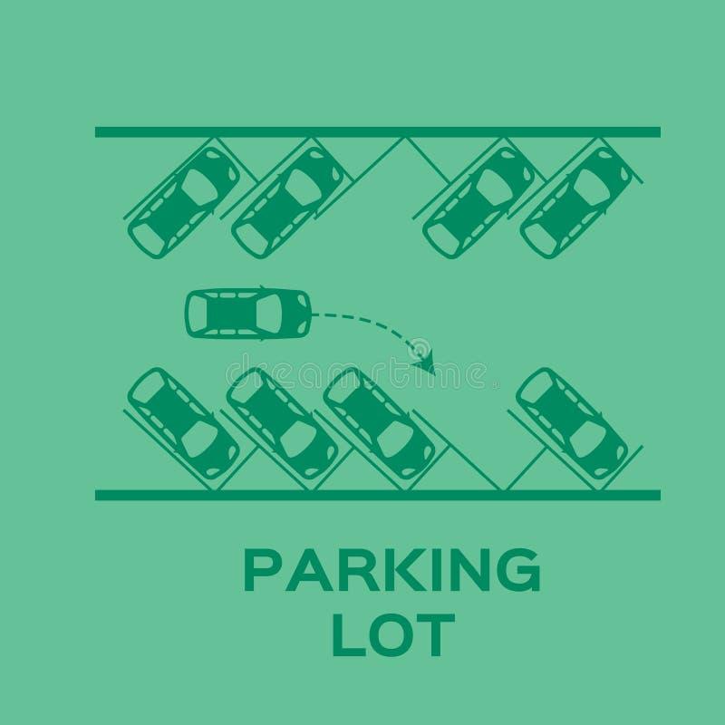 顶视图停车场设计 皇族释放例证