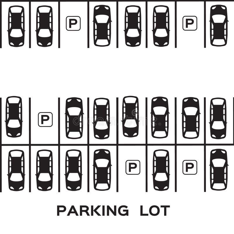 顶视图停车场 皇族释放例证