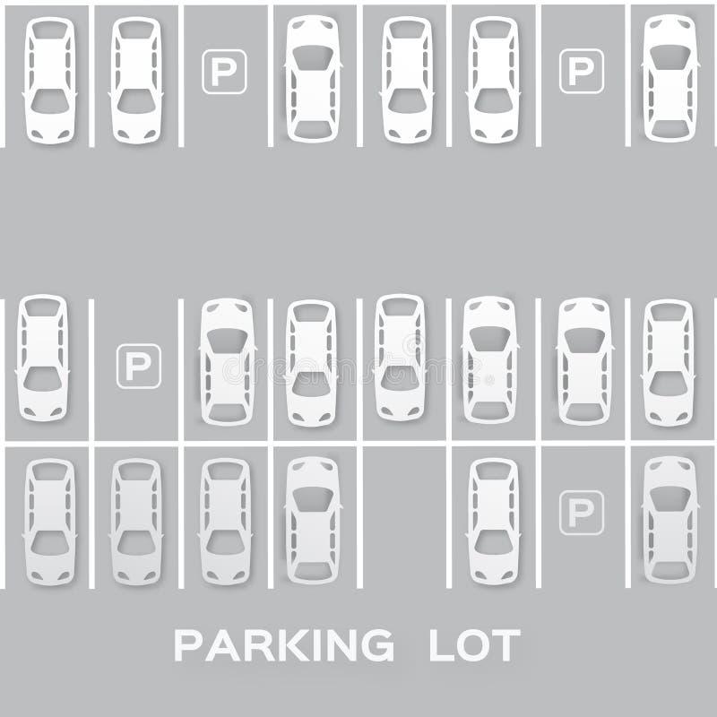 顶视图停车场 向量例证