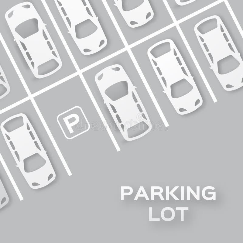 顶视图停车处 皇族释放例证