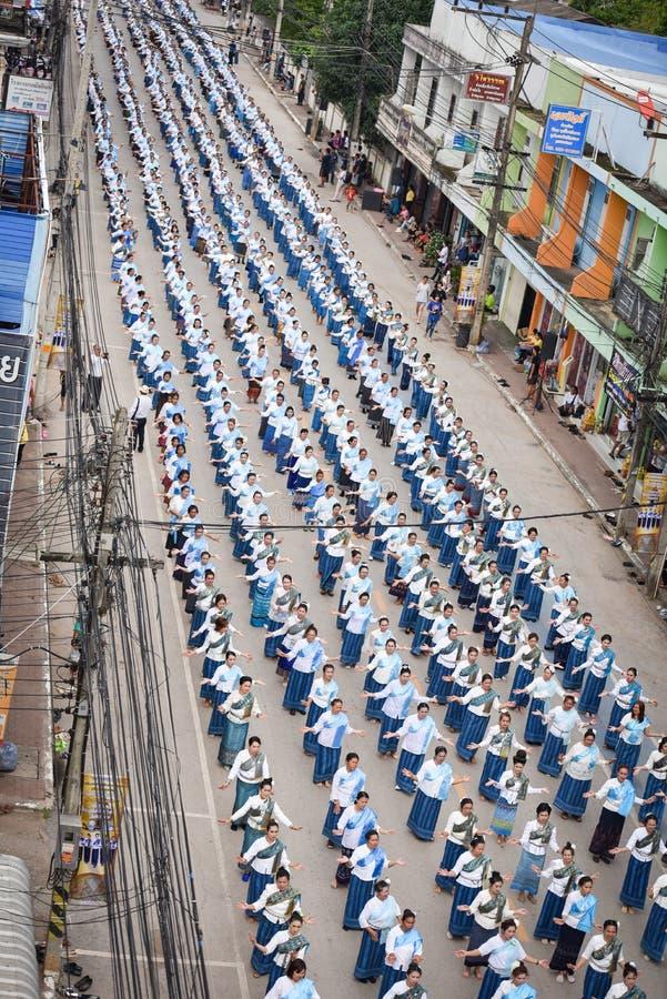 顶视图历史图片仪式舞蹈女神泰国2018年 库存图片