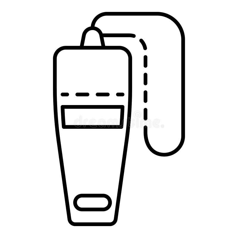 顶视图口哨象,概述样式 库存例证