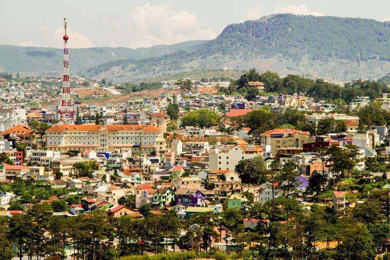 顶视图在dalat城市越南 免版税库存图片