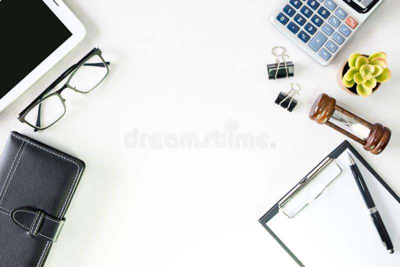 顶视图有拷贝空间英雄倒栽跳水图象的营业所书桌 库存图片