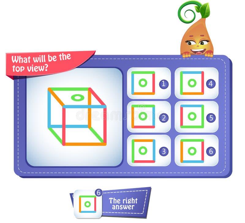 顶视图正方形 库存例证
