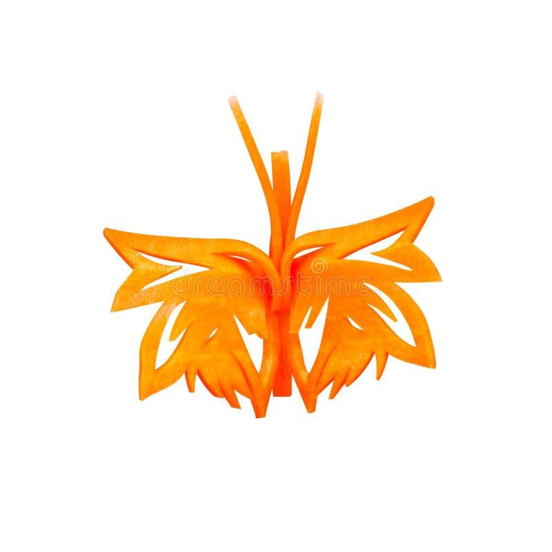 萝卜雕刻动物图_由红萝卜做的蝴蝶雕刻 库存图片. 图片 包括有 红萝卜, 食物 ...
