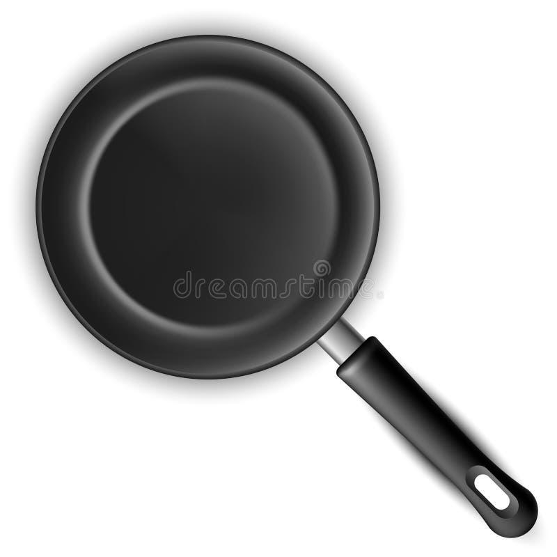 黑煎锅 库存例证