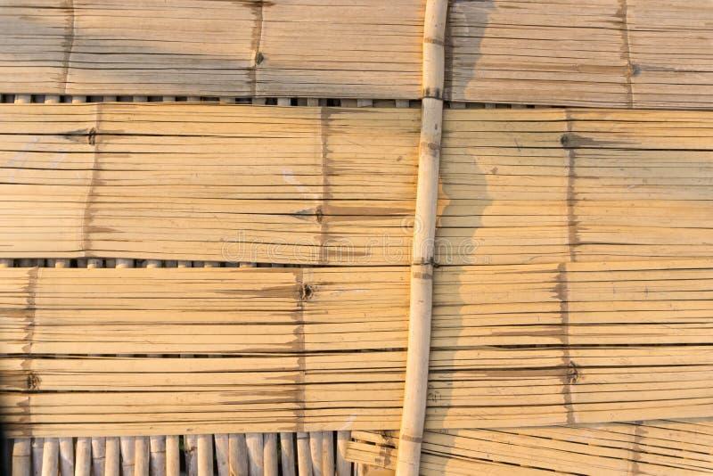 顶视图竹桥梁,在泰国 库存图片