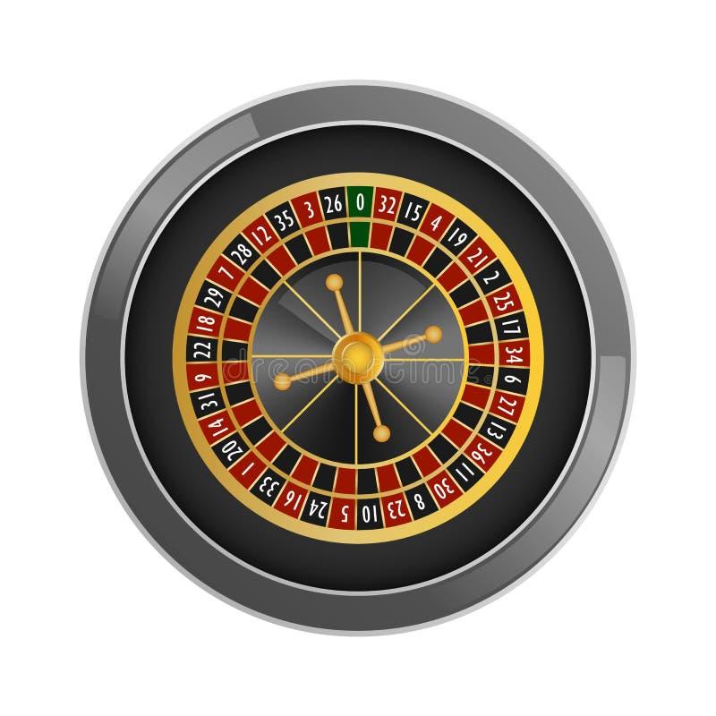 顶视图轮盘赌赌博娱乐场大模型,现实样式 皇族释放例证
