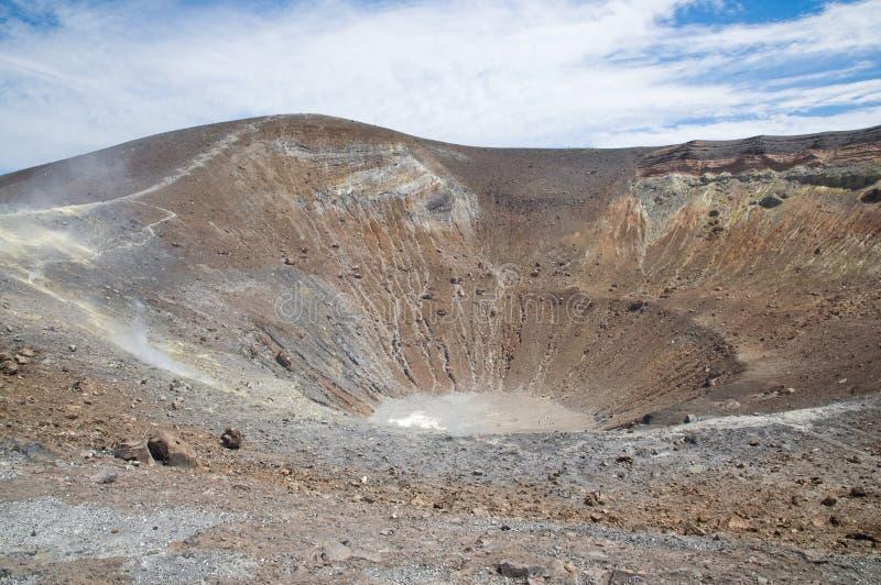 顶部火山 图库摄影