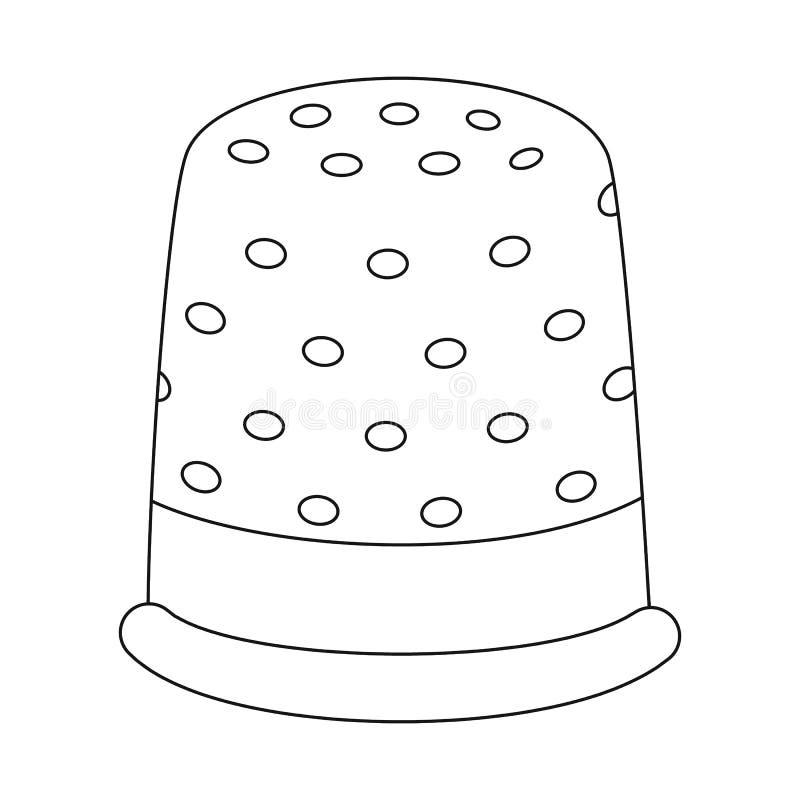 顶针和铭刻商标传染媒介设计  设置顶针和衣物储蓄传染媒介例证 向量例证