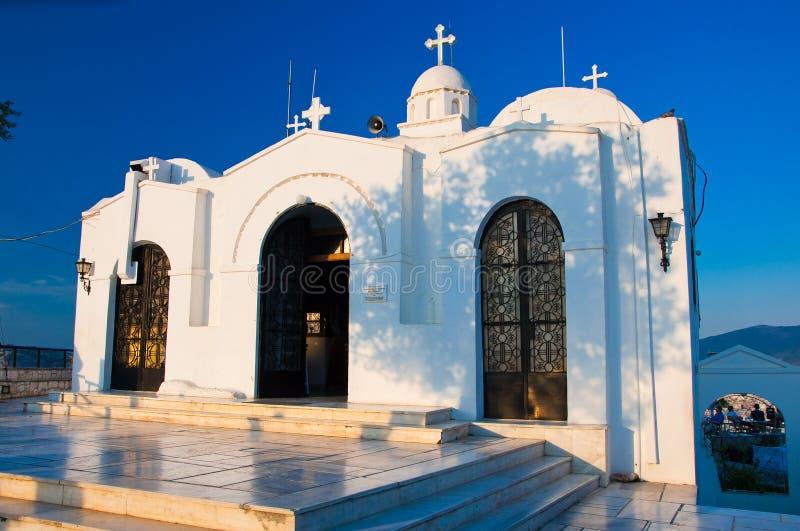 顶面吕卡维多斯的圣乔治的教堂 雅典,希腊 图库摄影