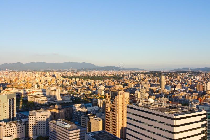 顶面城市视图在福冈 免版税图库摄影