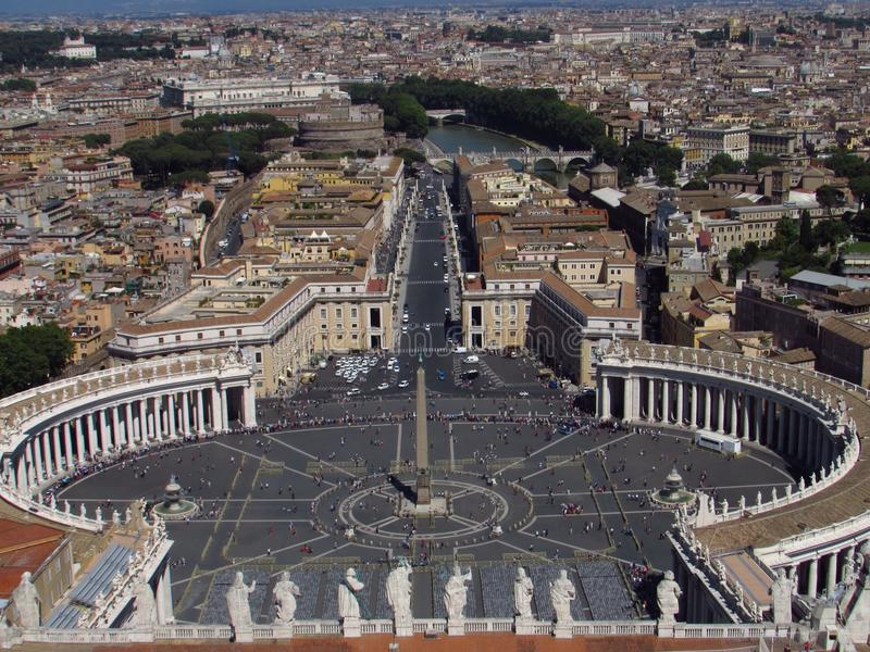 顶面梵蒂冈 免版税库存图片