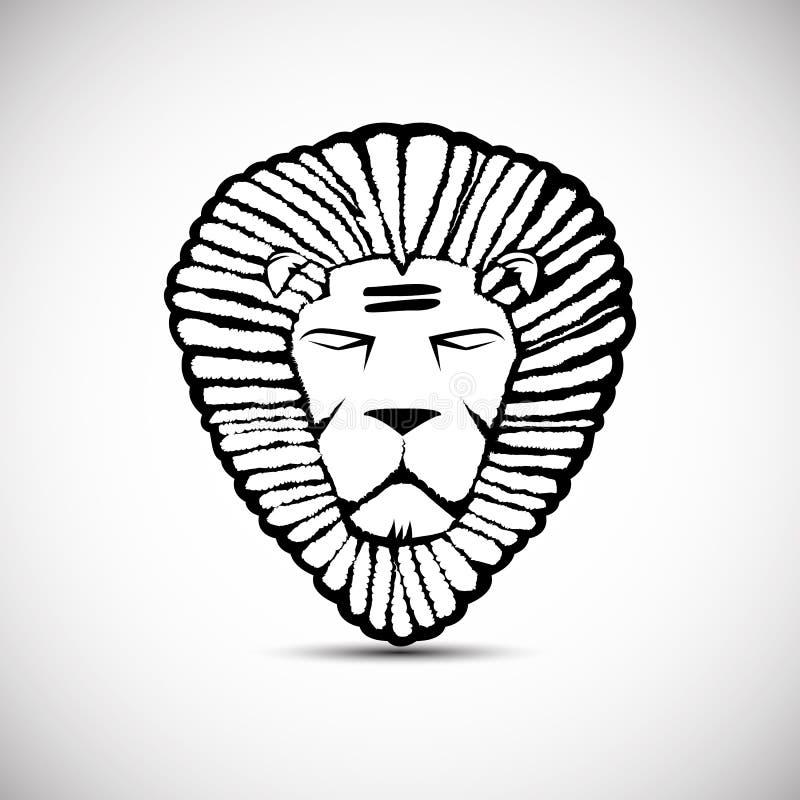 顶头狮子商标传染媒介设计, rastafarian概念 向量例证
