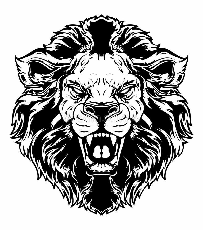顶头狮子 向量例证