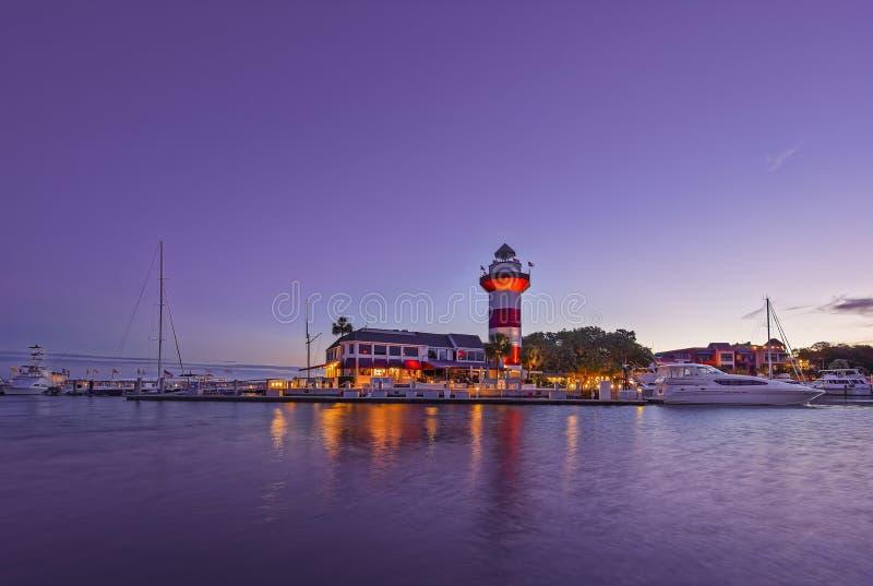 顶头hilton海岛灯塔 免版税库存照片