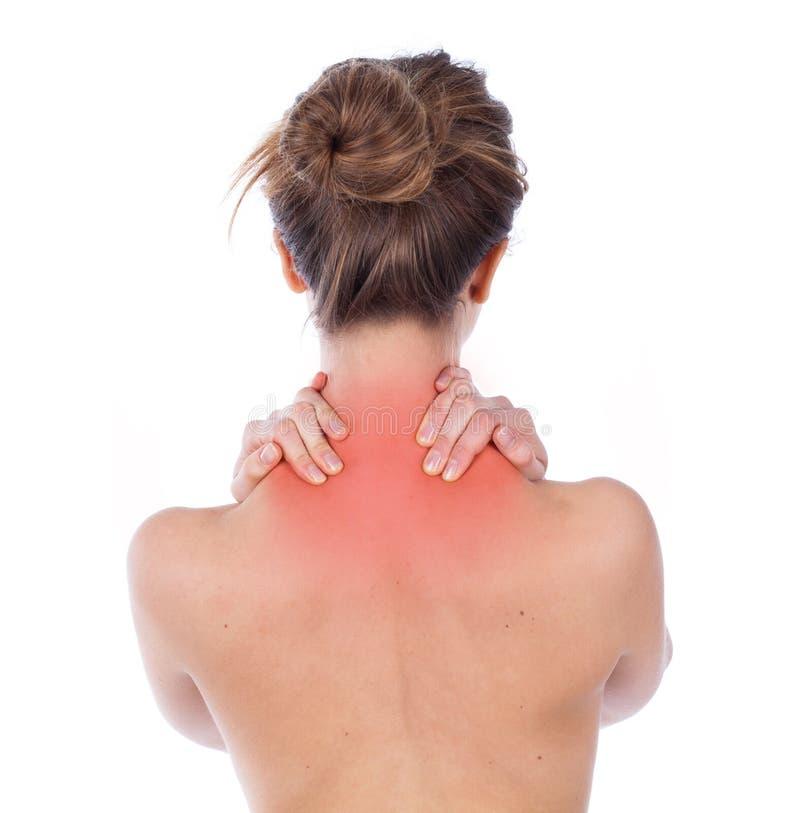 项和斜方肌疼痛 免版税图库摄影
