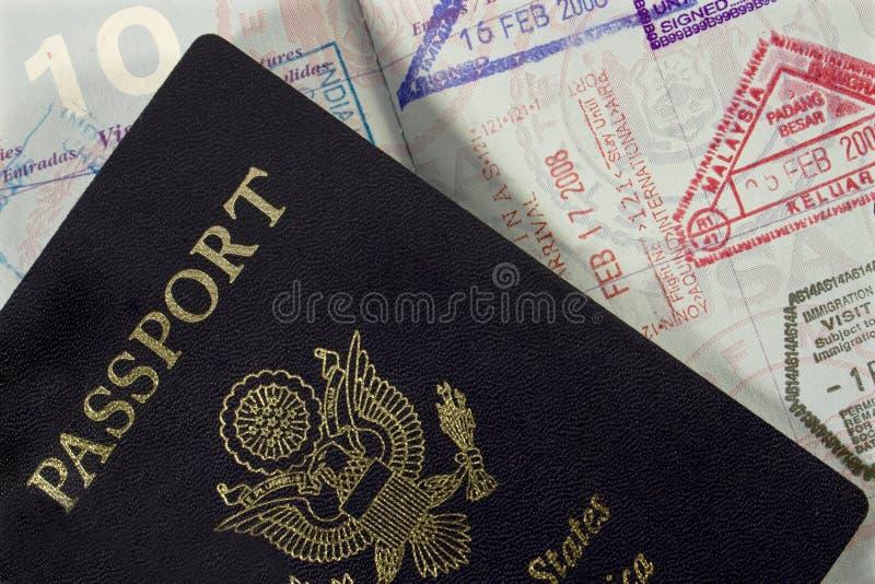 项护照印花税 免版税库存图片
