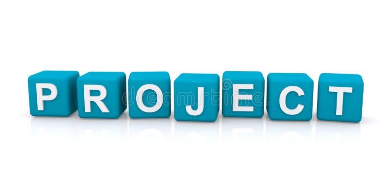 项目信件块 库存例证