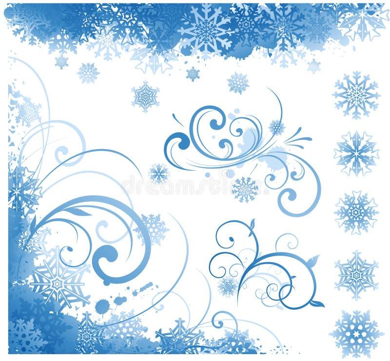 项目冬天 向量例证