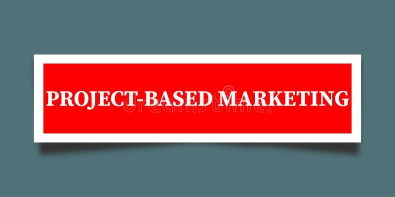 项目基于销售的标志 向量例证