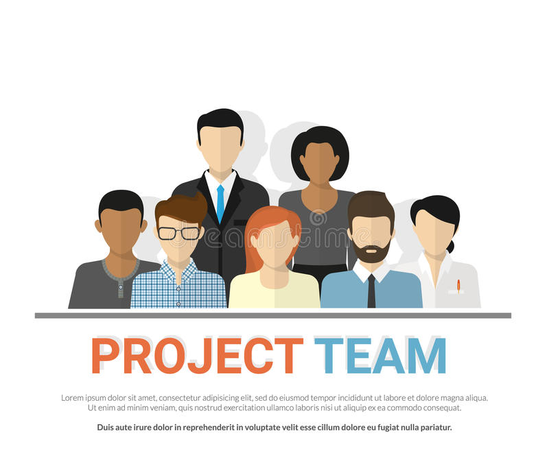 项目小组具体化 库存例证