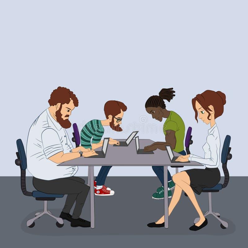Download 项目开发商队 向量例证. 插画 包括有 互联网, 朋友, 网络连接, 计算机, 地球, 办公室, 媒体, 向量 - 62537228