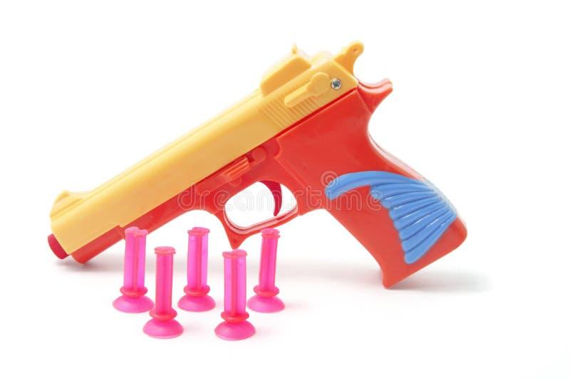 项目符号枪塑料玩具 库存照片