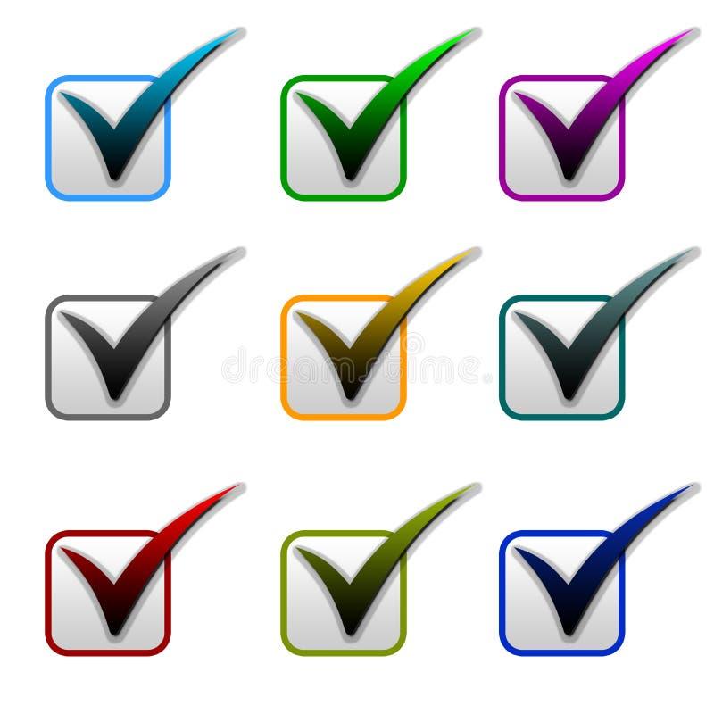 项目符号标记滴答声 免版税库存图片
