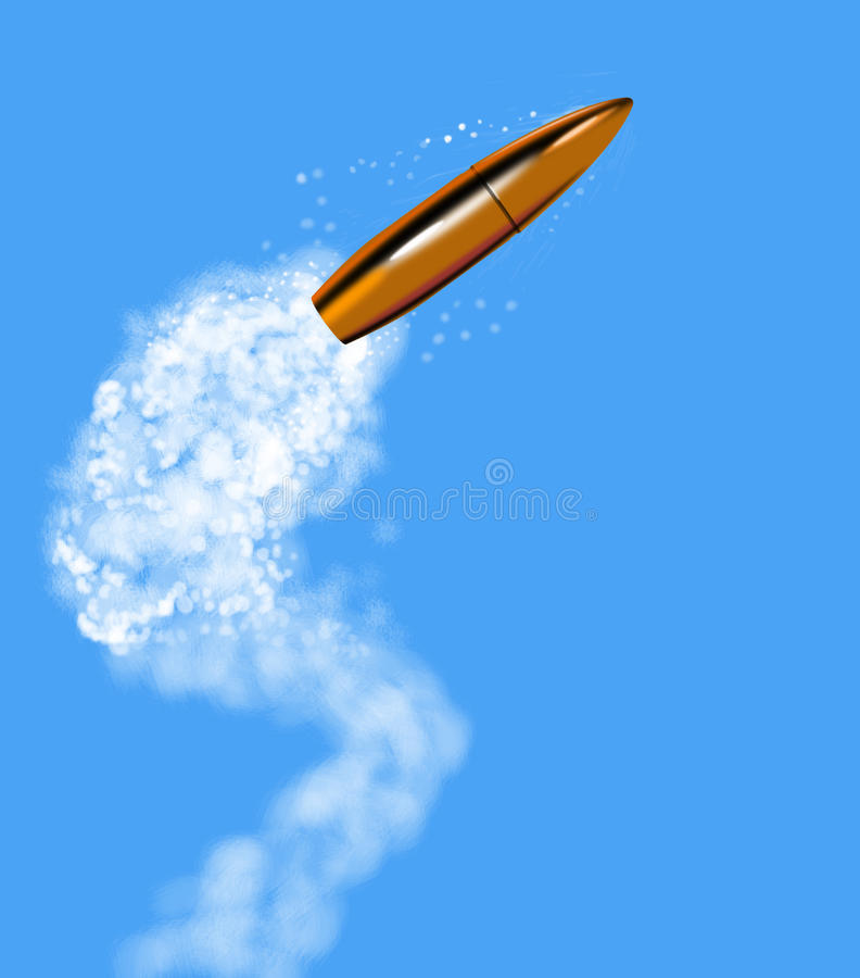 项目符号被射击的烟线索 向量例证