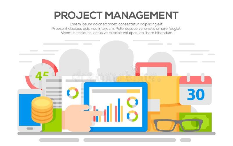 项目管理企业概念 向量例证