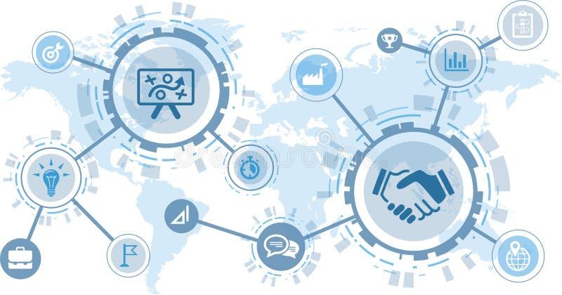 项目管理传染媒介例证–战略、计划、管理&分析 向量例证
